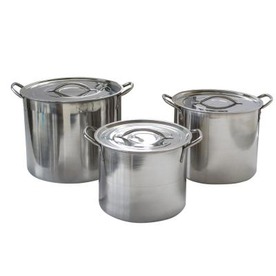 6-Piece Stainless Steel with Lids Stock Pot Set