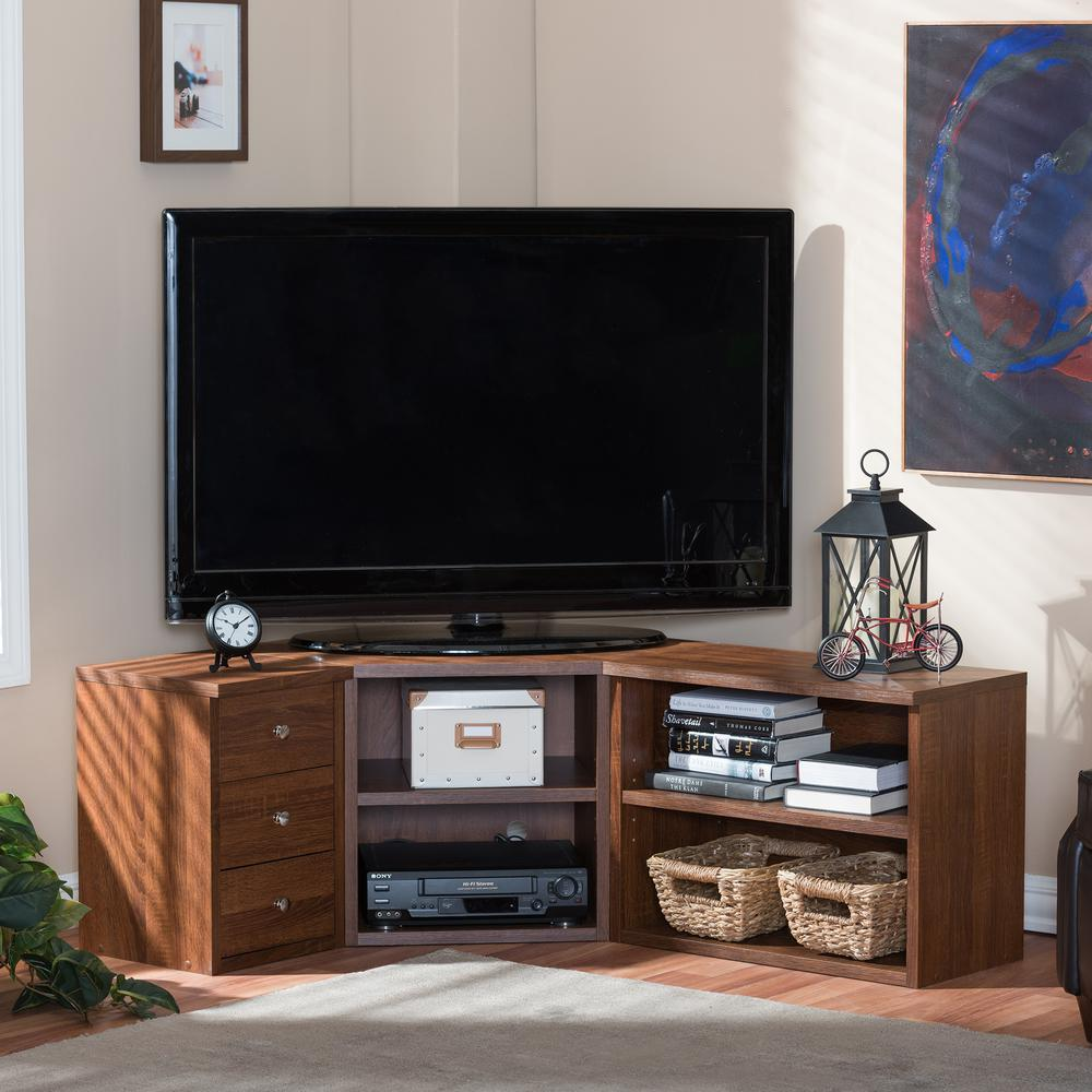 Commodore Brown Storage Entertainment Center