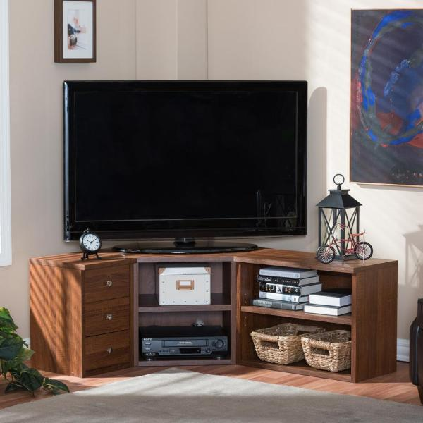Baxton Studio Commodore Brown Storage Entertainment Center 28862-5444-HD