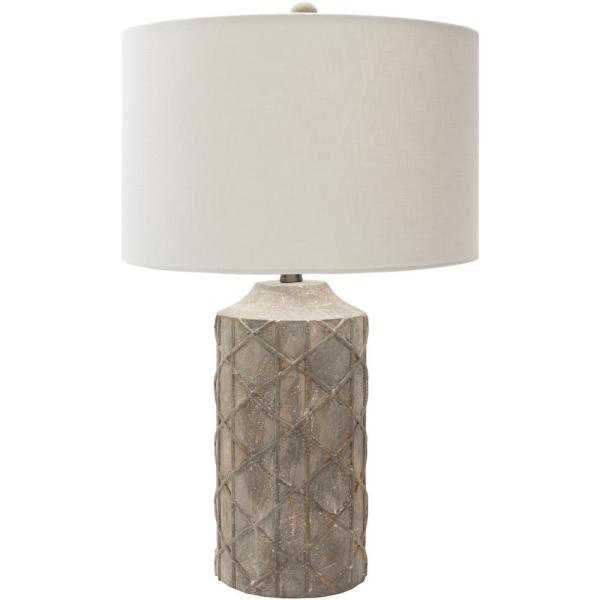 Audrey 26.75 in. Camel Indoor Table Lamp