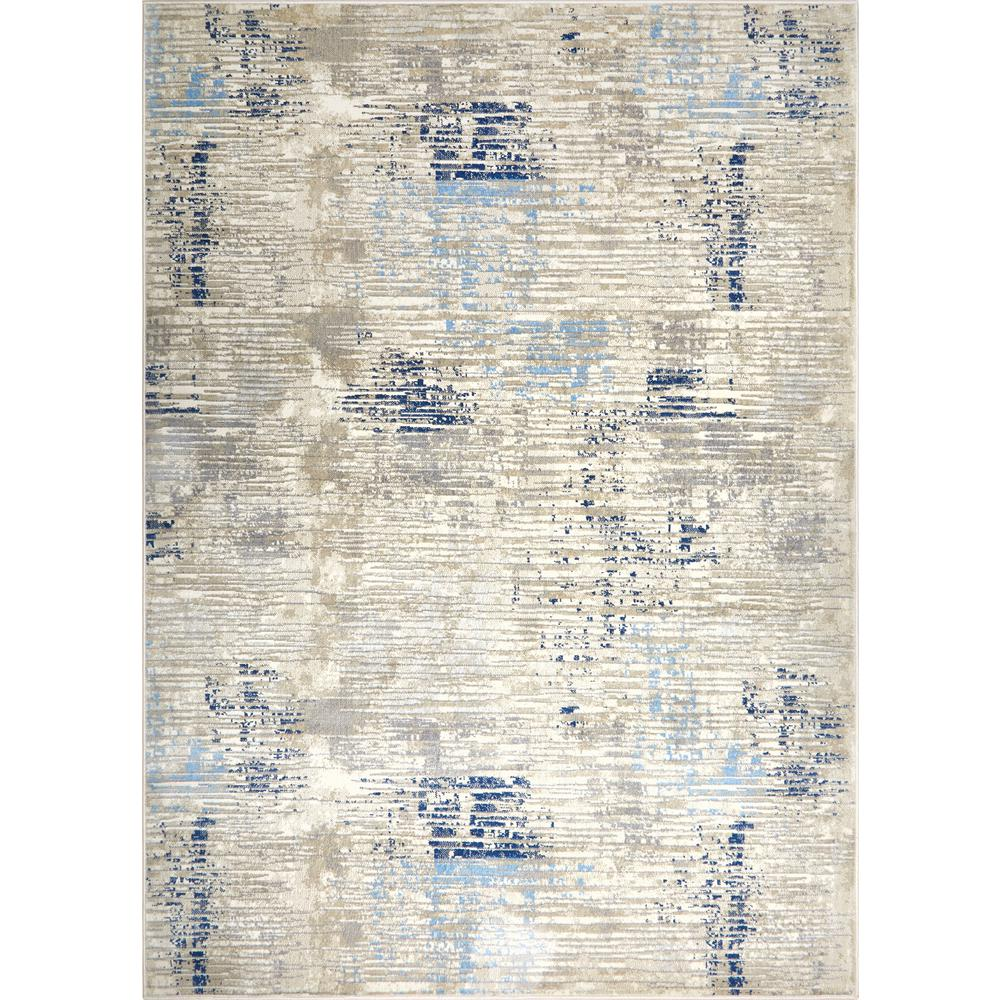 Melrose Lorenzo Gray/Blue 7 ft. 10 in. x 10 ft. 2