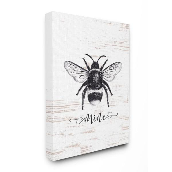 Stupell Industries 24 in. x 30 in. ''Bee Mine Drawing On