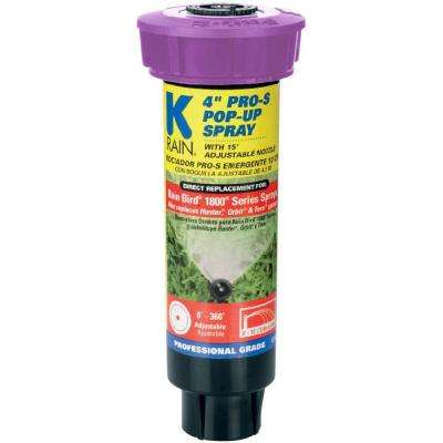 Pro-S 4 in. Pop-Up Spray with 15 ft. Adjustable Nozzle - RCW