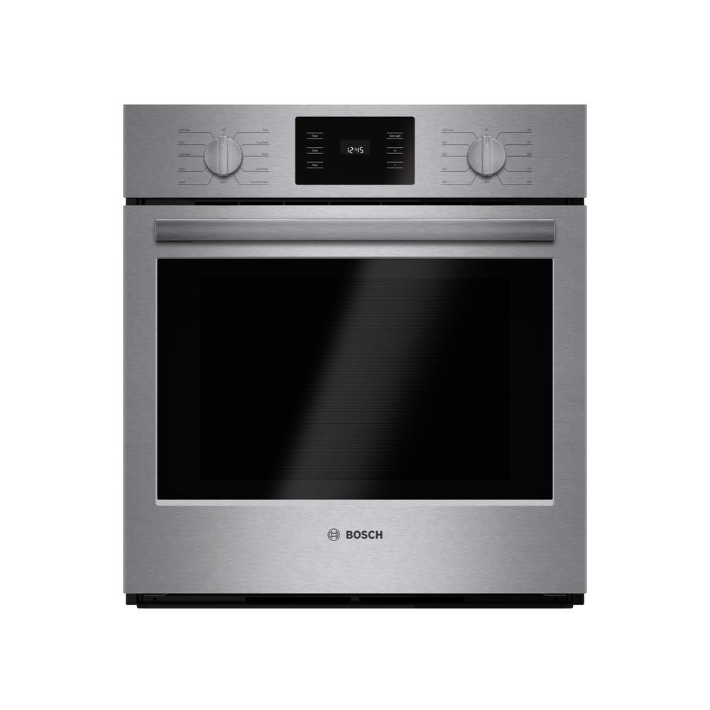 Bosch 500 Series 27 In Single Electric Wall Oven With European Convection And Self Cleaning