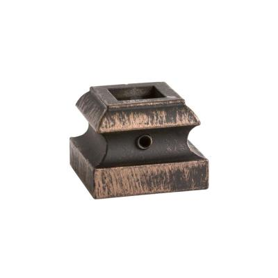 Square Hole 1.3125 in. Aluminum Level Baluster Shoe in Oil Rubbed Bronze