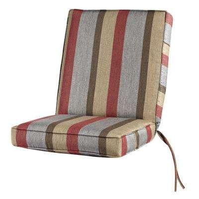 22 x 22 Outdoor Dining Chair Cushion in Sunbrella Gateway Blush