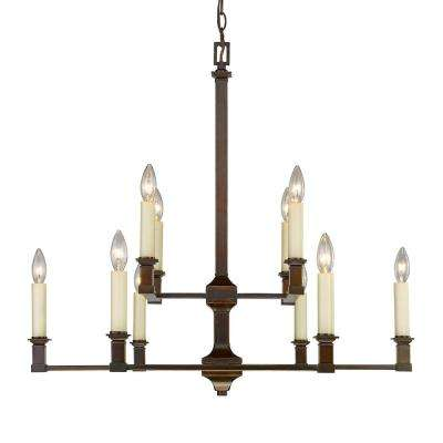 Bradley 10-Light Cordoban Bronze Chandelier