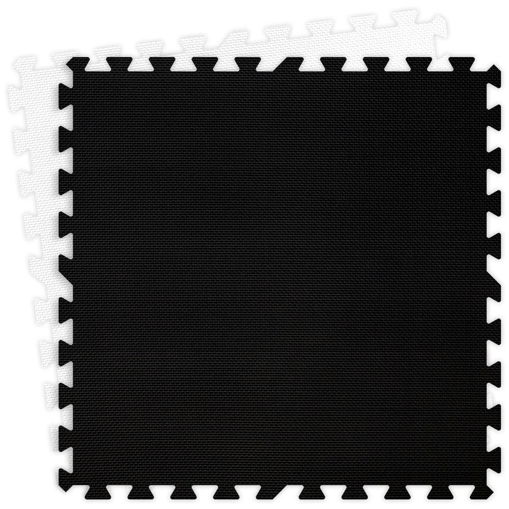 Groovy Mats Black and White 24 in. x 24 in. Comfortable Mat (100 sq.ft. / Case)
