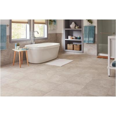 Portland Stone Gray 18 in. x 18 in. Glazed Ceramic Floor and Wall Tile (17.44 sq. ft. / case)