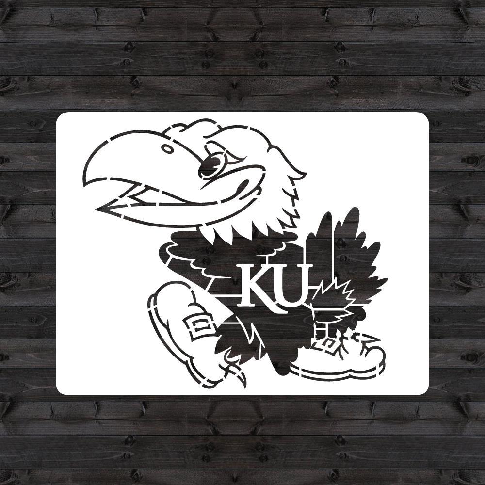 """KU """"Jayhawk"""" Mini Stencil"""