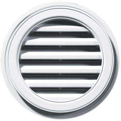 18 in. Round Gable Vent in White