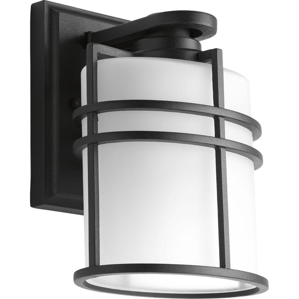 Progress Lighting Format Collection 1 Light Black 7 6 In Outdoor Wall Lantern Sconce