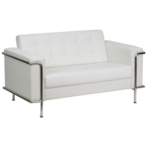 Flash Furniture Hercules Lesley Series Contemporary White Leather ...