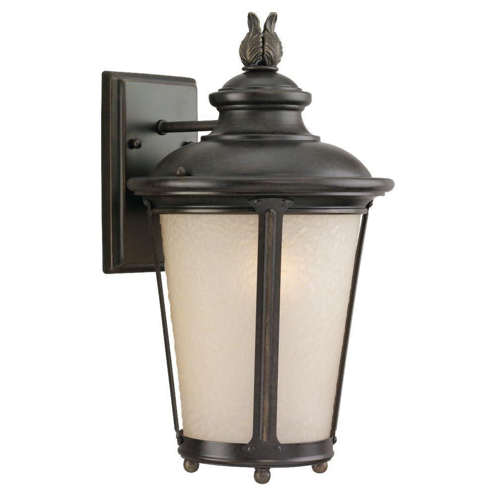 Cape May 1 Light Outdoor Burled Iron Wall Mount Fixture
