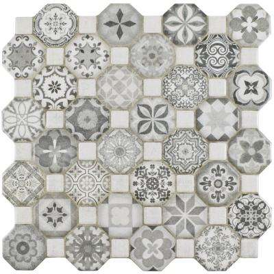 Tessera Grey 12-1/4 in. x 12-1/4 in. Ceramic Floor and Wall Tile (14.11 sq. ft. / case)