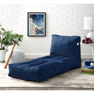 Tremendous Loungie Cloudy Blue Bean Bag Lounger Chair Convertible Nylon Andrewgaddart Wooden Chair Designs For Living Room Andrewgaddartcom