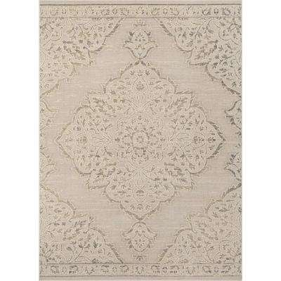 Campo Vivian Beige Traditional Vintage Medallion 8 ft. 9 in. x 12 ft. 5 in. Area Rug