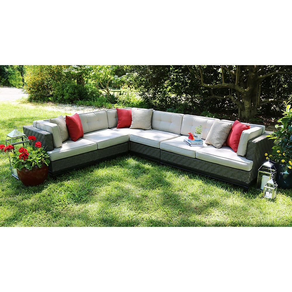 ae outdoor camilla 4 piece all weather wicker patio