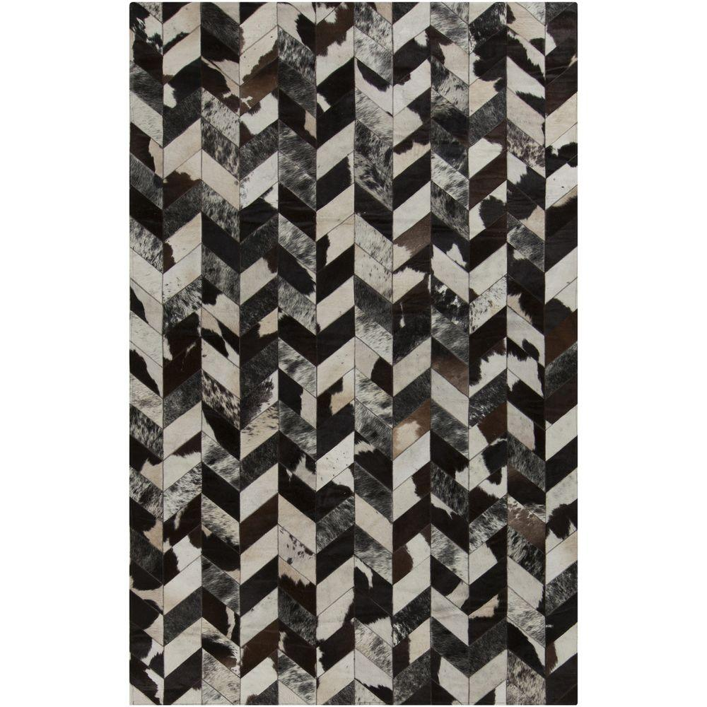 Kala Black 8 ft. x 10 ft. Indoor Area Rug