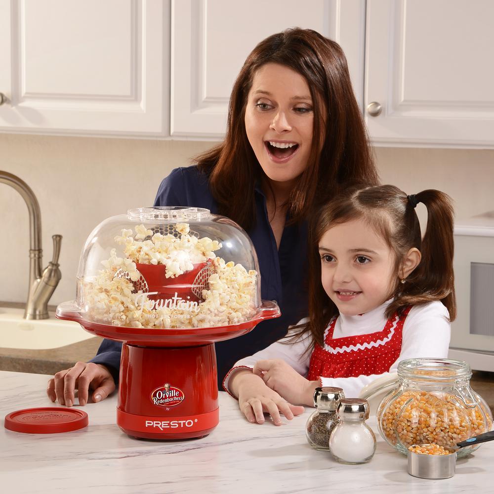Presto Hot Air 4 oz. Red Countertop Popcorn Machine
