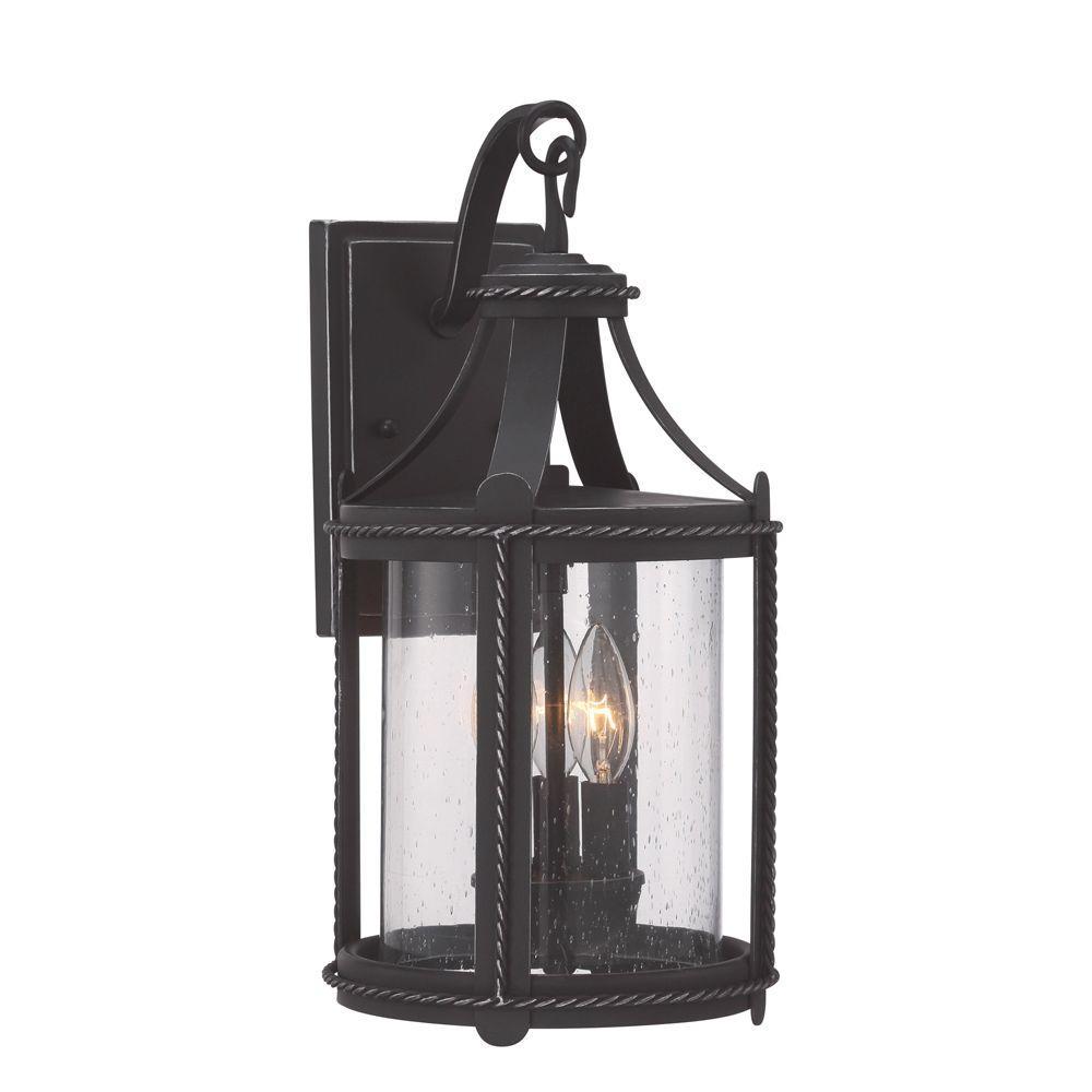 Palencia 3-Light Artisan Pardo Wash Outdoor Incandescent Wall Lantern