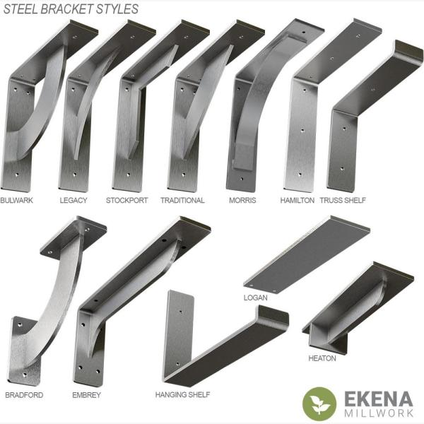Ekena Millwork 20 In X 2 In X 20 In Steel Hammered Gray Hamilton Bracket Bktm02x20x20hahgy The Home Depot