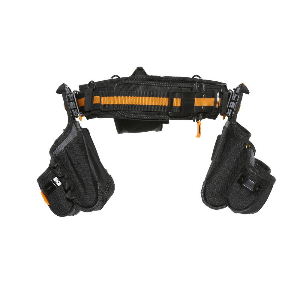 TOUGHBUILT Contractor Tool Belt Set, Black (4-Piece)