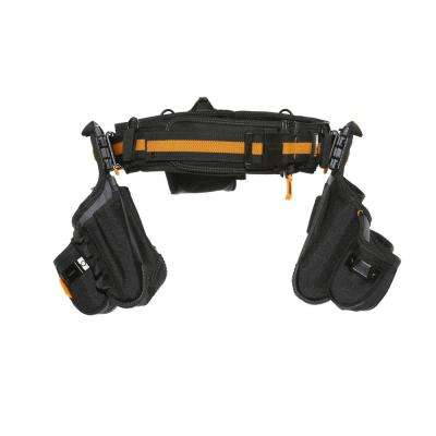 Contractor Tool Belt Set, Black (4-Piece)