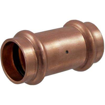 1/2 in. Copper Press x Press Pressure Coupling with Dimple Stop