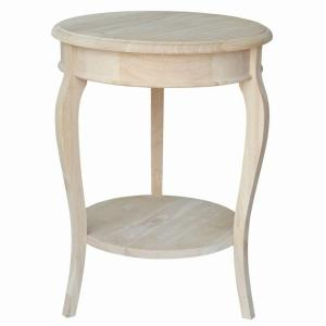 International Concepts Cambria Unfinished End Table by International Concepts