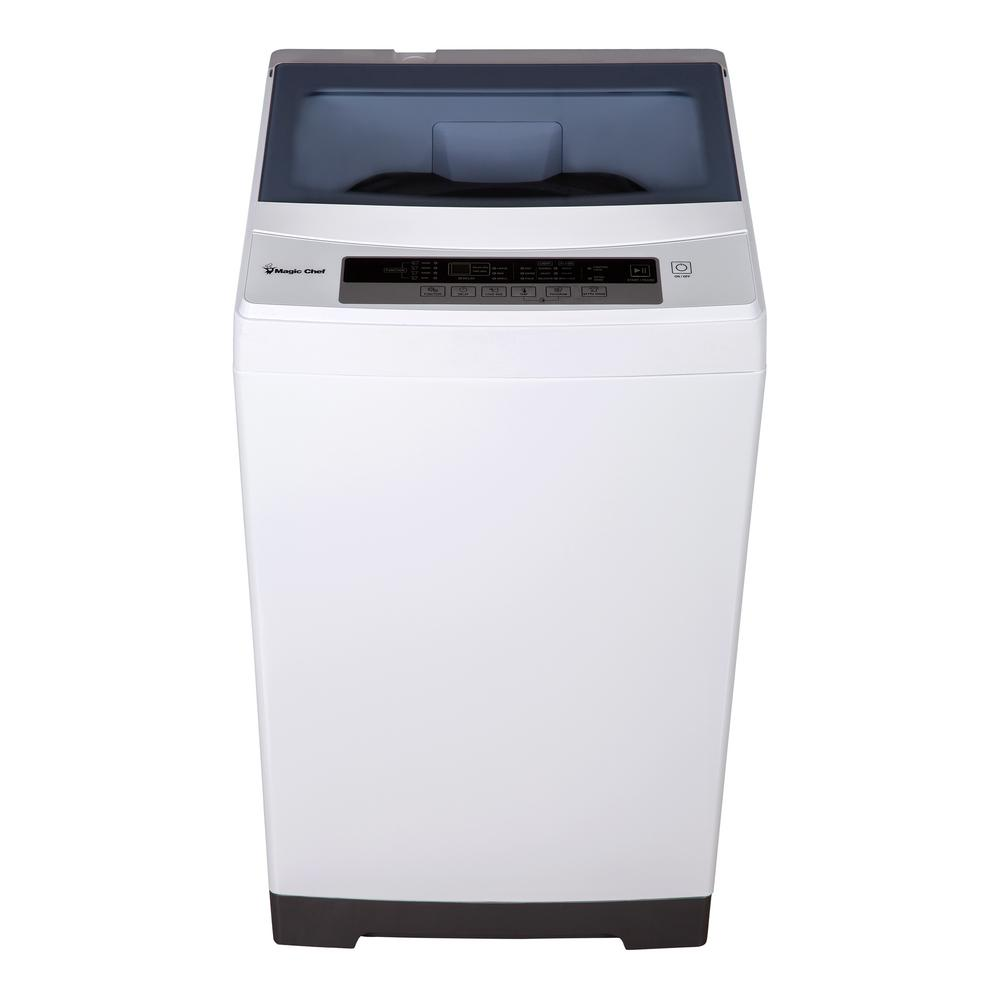 1.6 cu. ft. Compact White Top Load Washing Machine, Portable with