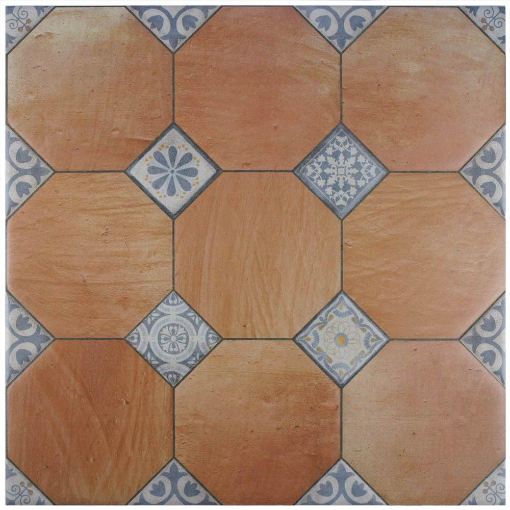 Merola Tile Jarama Cotto 23-5/8 in. x 23-5/8 in. Ceramic Floor and Wall Tile (15.5 sq. ft. / case)