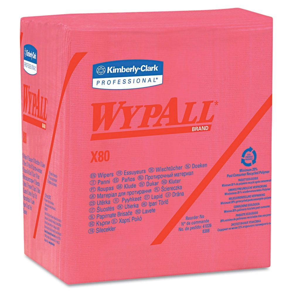 WYPALL X80 Red Quarterfold Wipers (50-Pack)