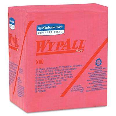X80 Red Quarterfold Wipers (50-Pack)