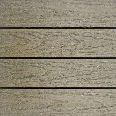 UltraShield Naturale 1 ft. x 1 ft. Quick Deck Outdoor Composite Deck Tile Sample in Roman Antique