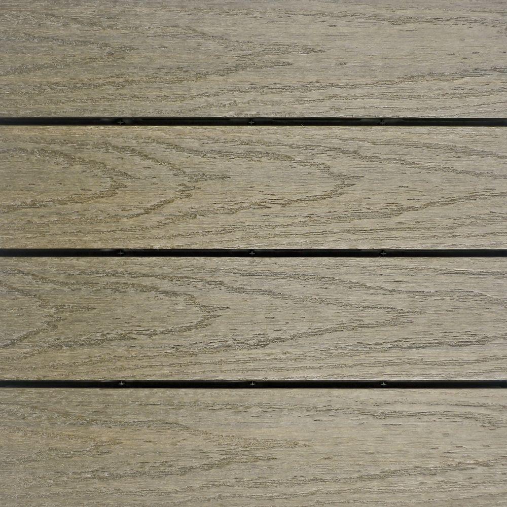 NewTechWood UltraShield Naturale 1 ft. x 1 ft. Quick Deck Outdoor Composite Deck Tile Sample in Roman Antique