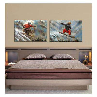 "31 in. x 47 in. ""Downhill"" Metal Wall Art"