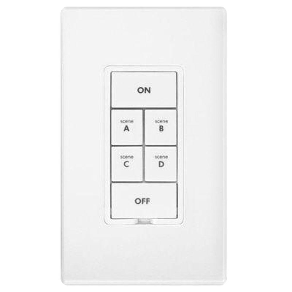 Smarthome INSTEON 6-Button Scene Control Keypad with Dimmer - White-DISCONTINUED