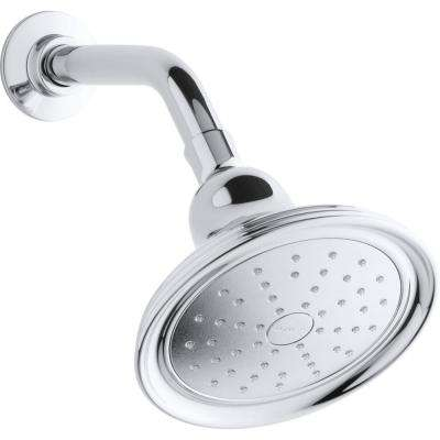 Devonshire 1-Spray 5.9375 in. Showerhead with Katalyst Air-Induction Technology in Polished Chrome