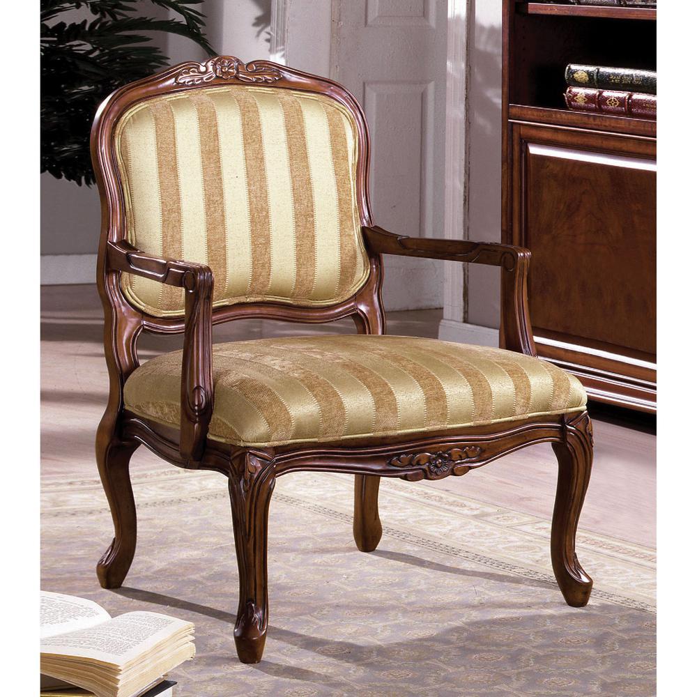 Burnaby Brown Fabric Arm Chair