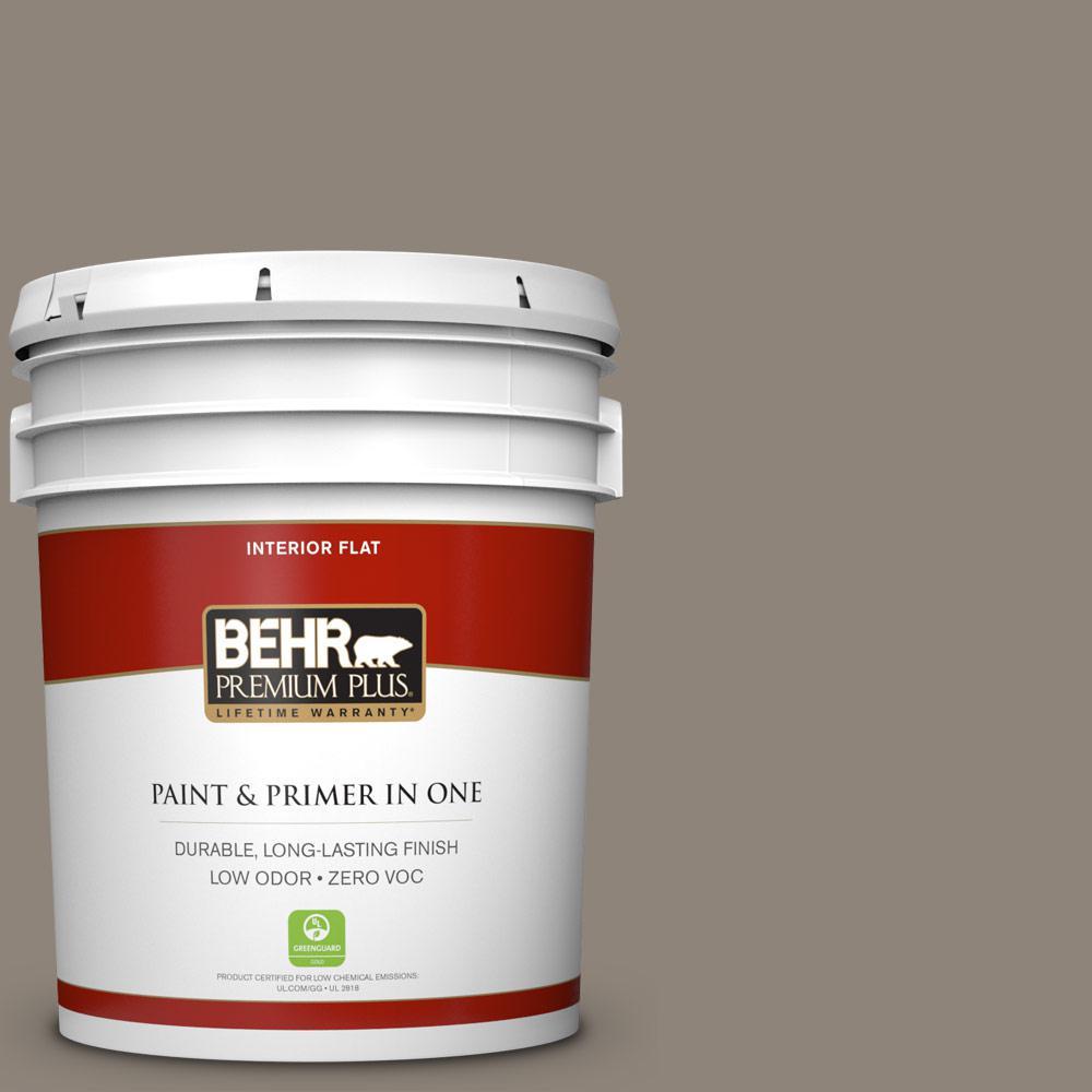 BEHR Premium Plus 5-gal. #N200-5 Woodcraft Flat Interior Paint