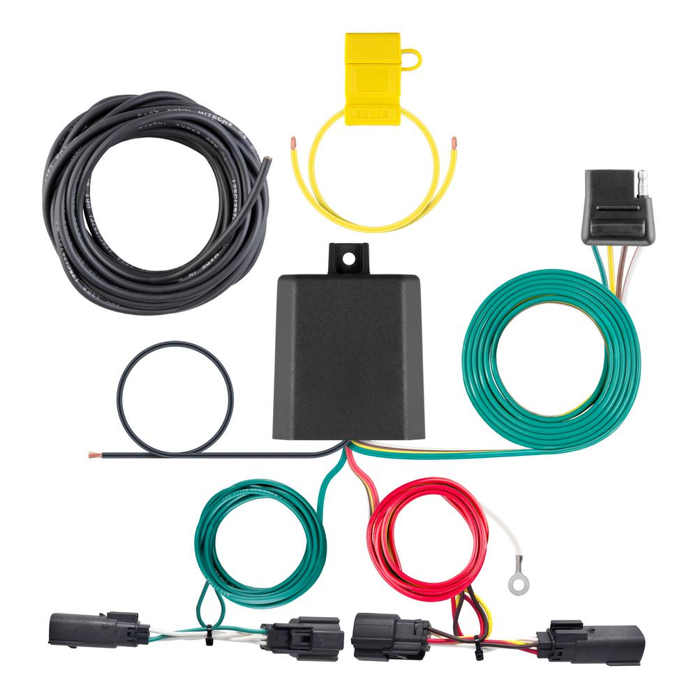 CURT Custom Vehicle-Trailer Wiring Harness, 4-Way Flat Output, Select Ford  Edge, Quick Electrical Wire T-Connector-56436 - The Home DepotThe Home Depot