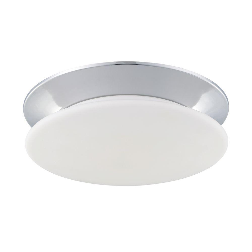 Eurofase Crown Collection 1-Light Chrome Flushmount