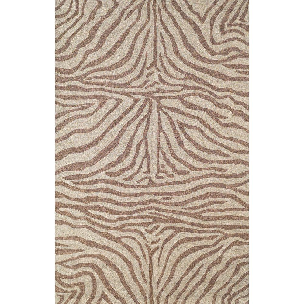 Sinclair African Stripes Brown 8 ft. x 10 ft. Rectangle Indoor/Outdoor Area Rug