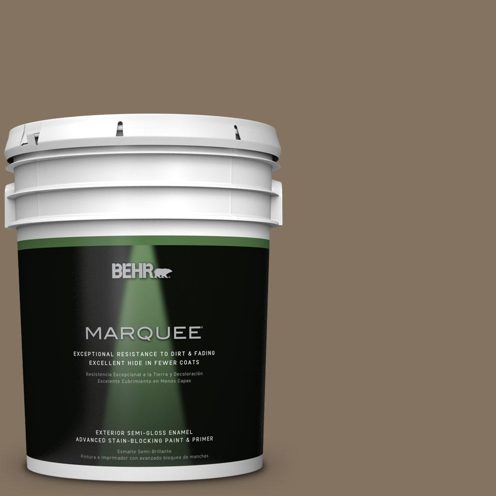 5-gal. #BXC-05 Mudslide Semi-Gloss Enamel Exterior Paint