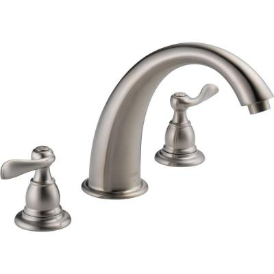 Windemere 2-Handle Deck-Mount Roman Tub Faucet Trim Kit Only in Stainless (Valve Not Included)