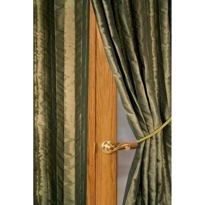 Home Decorators Collection Semi-Opaque Antique Gold Meadowbrook Rod Pocket Panel - in. W x 96 in. L
