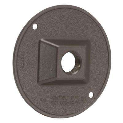 4 in. Round Weatherproof Cluster Cover with one 1/2 in. Outlet