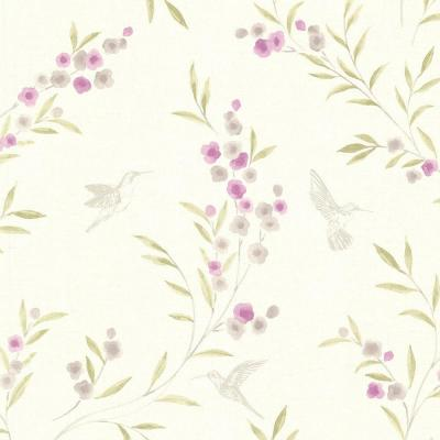 Lineanna Purple Floral Wallpaper Sample