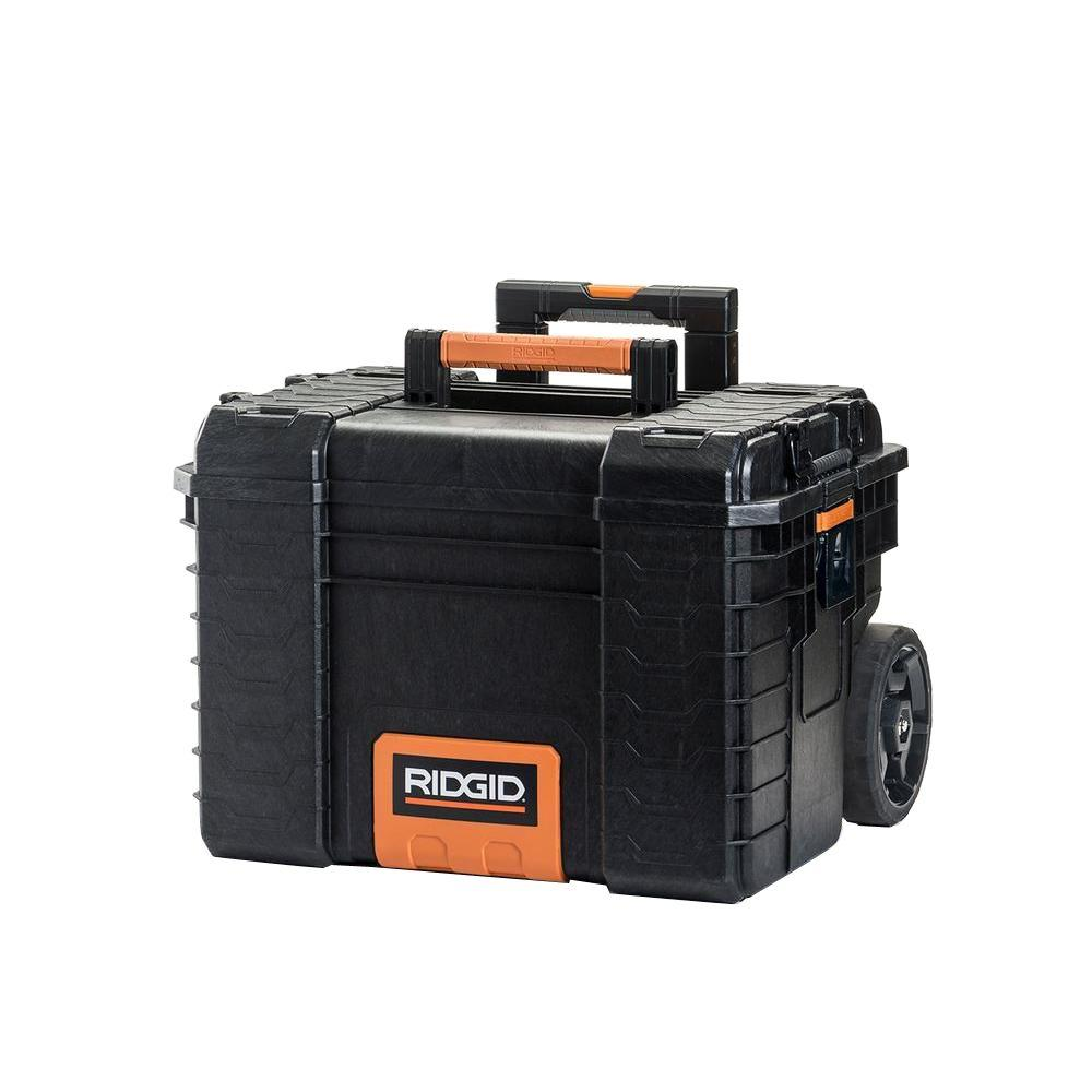 RIDGID 22 in. Pro Gear Cart Tool Box in Black